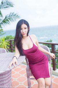 [IMiss love honey club] Vol.151 Goddess Abby Liya Long Beach travel first set photo