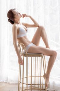 Park Soo Yeon – Light Grey Lingerie