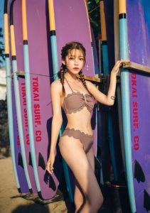Cha Yoo Jin – Mermaid Waves Tube Top Bikini