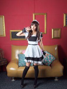 [BEAUTYLEG 番外篇] Leg model Xu Tianyu Avy-Black silk maid costume photo set