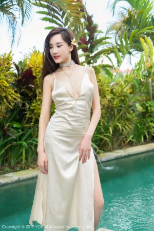 [YOUMI 尤 蜜 荟] Vol.049 Soil fertilizer round short and poor-High fork dress and bubble bath series