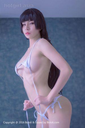 [Bololi 波罗 社] BOL.043 Xi Muzi-White bikini in the bedroom and bathroom