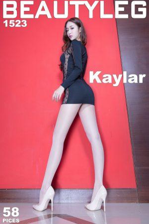 [Beautyleg] No.1523 Leg model Kaylar bag hip skirt + bright silk high fork beautiful legs photo