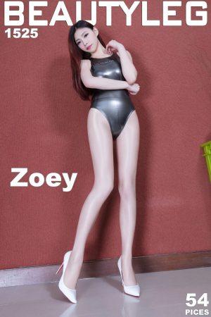 [Beautyleg] No.1525 leg model Zoey high fork + stockings beautiful legs photo