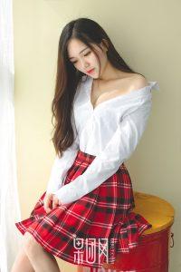 [Girlt 果 团 网] No.063 Yin Yichun-Pure Jade Girl bf Shirt Style & Lace Underwear