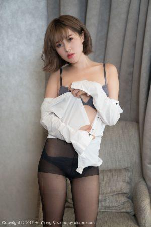 [HuaYang 花 扬 show] VOL.004 Little Dot-Stockings Beautiful Legs Short Hair Beauty