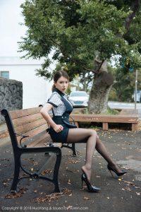 [HuaYang 花 洋] Vol.087 黄 楽 然-101P Super Quantity Black Silk Seduction
