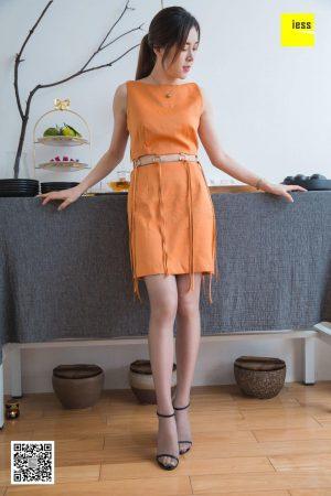 [IESS 奇思 趣向] Model Xiran _Xiran exposed navel skirt gray silk_ stockings beautiful legs silk feet photo