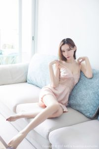 [IMiss 爱 蜜 社] VOL.188 Meng Qiqi Irene-pink pajamas + lace underwear photo