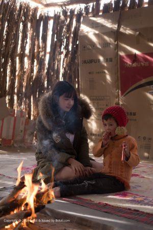 [Kimoe radical culture] KIM012 Zhou Wenqiu ball-campfire to warm the desert tour
