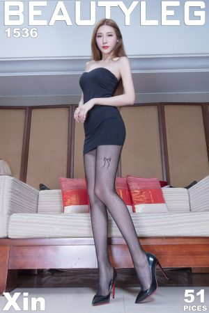 [Beautyleg] No.1536 leg model Xin-black silk + skirt beautiful legs photo