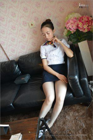 [IESS 异 思 趣向] Silk foot bento 135 new model momo-gray silk OL in flat shoes