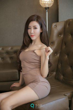 [QingDouKe 青豆 客] The long-haired beauty Jon Xiqiao reveals a proud curve