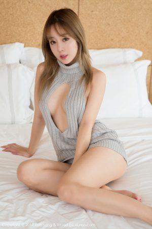 [花 洋 SHOW] VOL.014 Wang Yuchun-open back sweater + Barbie doll photo set