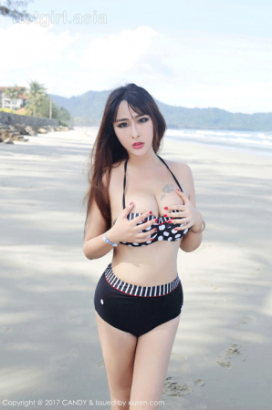[CANDY Candy Pictorial] Vol.048 Sexy Goddess @FoxYini 孟 狐狸-Sabah Brigade shoots the first set of photos