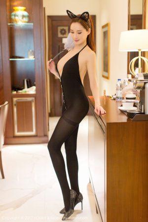 [YouMi 尤 蜜 荟] Vol.081 Soil fat round short frustration-black silk cat ear girl