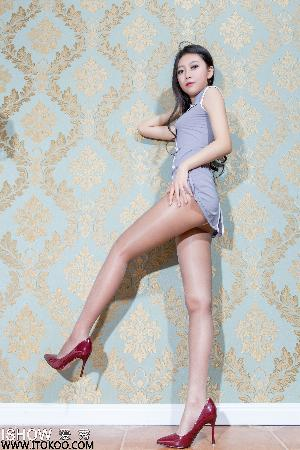 Yu Shi Wei Jenny Sexy Air Entry Uniform + Over-thin Pork [ISHOW Love Show] NO.101 Photo Collection